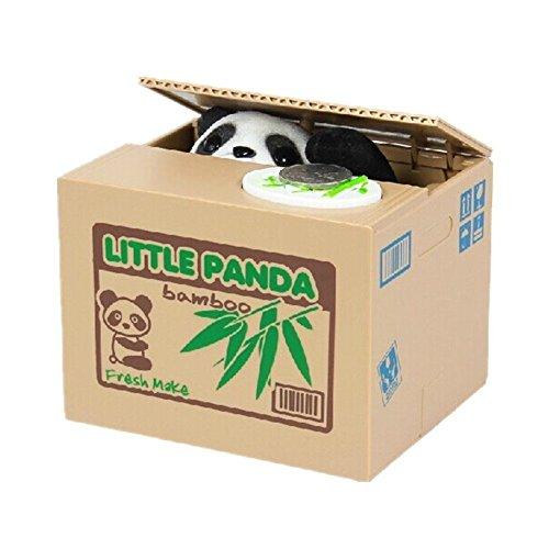 MC-TREND Hucha de Caja de Dinero automática electrónica - Robar Animales Robar Monedas (Panda)