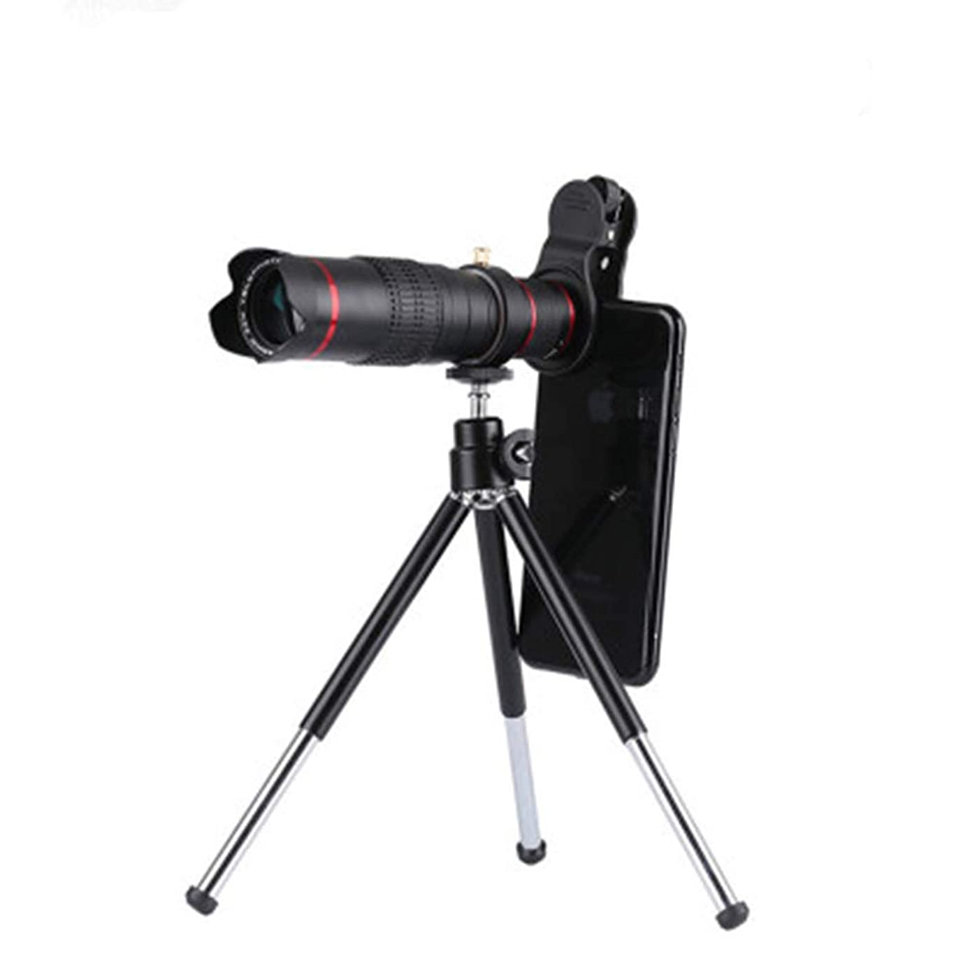 YAOkxin Cell Phone Lens, 22X Zoom Telephoto Lens, Clip-On HD Phone Camera Lens with Tripod for iPhone Xs Max XR X 8 7 Plus, for Samsung Galaxy, Android Smartphones, Monocular Telescope (Black)