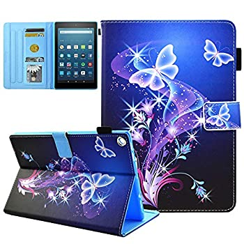 Kindle Fire HD 8 Case Old Model  Only Fit 2017 2016  7th/6th Gen  Not Fit HD 8 2020 Tablet and HD 8 Plus  JZCreater Standing Case Cover with Auto Wake/Sleep Purple Butterfly