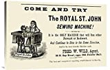 Global Gallery Budget GCS-374972-36-142 Unknown The Royal St. John Sewing Machine Gallery Wrap Giclee on Canvas Wall Art Print