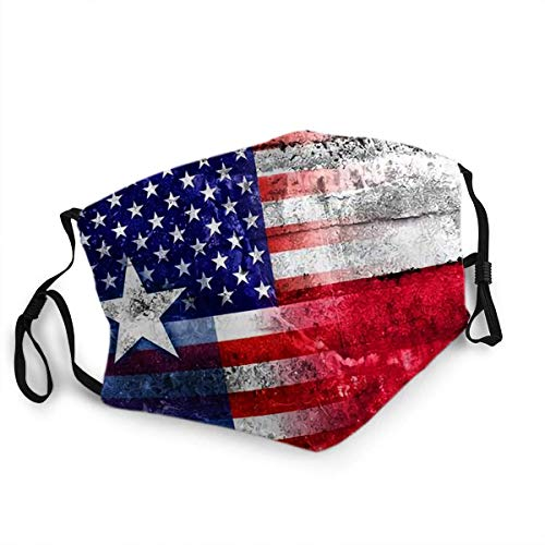 NA Unsex Mouth Shiled Scraf Face Cover USA und Texas State Flag auf Grunge Wand gemalt