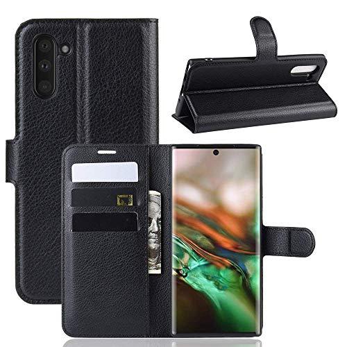 Capa Capinha Carteira 360 Para Samsung Galaxy Note 10 Normal Tela De 6.3Polegadas Case Couro Flip Wallet - Danet (Preta)