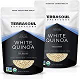 Our white quinoa comes in two conveniently resealable packages that are 2 lbs each ensuring your bulk quinoa is kept fresh during use. Our whitw quinoa is Certified Organic, Non-GMO, Earth Kosher, Raw, Gluten-Free and Vegan Our Quinoa has been cleane...