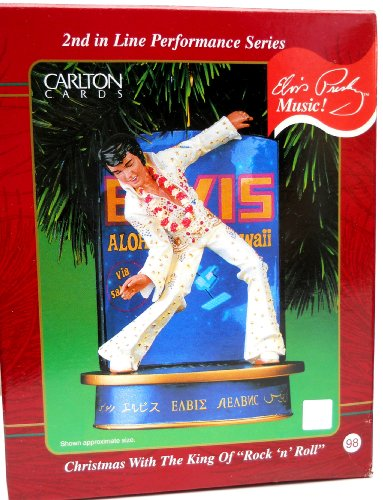 Carlton Cards Elvis Presley Christmas with the King of Rock 'N Roll Musical 2001 Christmas Ornament