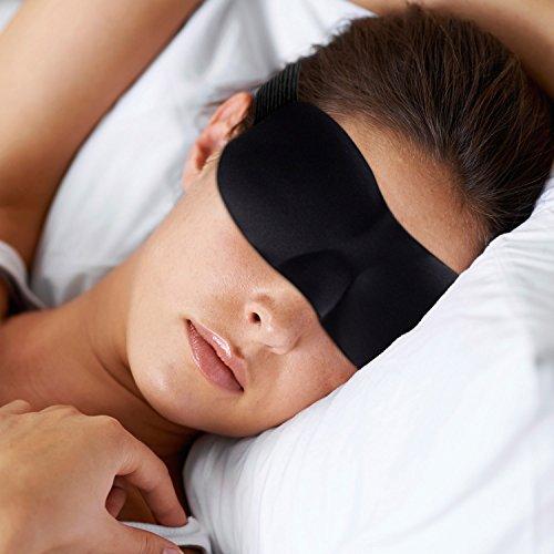 Prima antifaz para dormir - Opaco totalmente - Tapones para los oídos incluido - Máscara del sueño de DrSleepwell - Antifaces para dormir bien - Dormir con antifaz - Gafas para dormir - En todas partes dormir con máscara para dormir de DrSleepwell - Máscara del sueño - Máscara para los ojos - Negro - Un mejor sueño y ya no sufren de fatiga - Máscara para los ojos a la luz en el plano, lugar de trabajo, unisex coche para hombres y mujeres - Sleeping mask - Significa a la luz Dos tapones incluidos