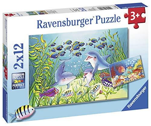 Ravensburger Kinderpuzzle 07625 - Auf dem Meeresgrund - 2 x 12 Teile
