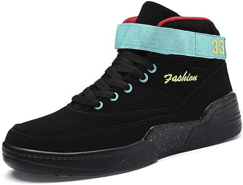 RYRYRB Herbst und Winter Herrenschuhe hohe Schuhe HerrenGröße Freizeitschuhe 39-46 Einfache und Bequeme Freizeitschuhe (Farbe   schwarz, Größe   41 EU)