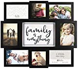 Malden 8-Op. Family is Everything Col Picture Frame, Black