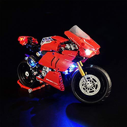 Kit de iluminación LED para luces LED que sirve para iluminar la moto Technic Ducati Panigale V4 R, una con 42107 (Modelo no incluido).