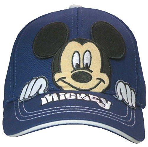 Disney Mickey Mouse Boné de beisebol infantil Peek-A-Boo Idade 4-7 – 100% algodão, Azul marinho, tamanho �nico