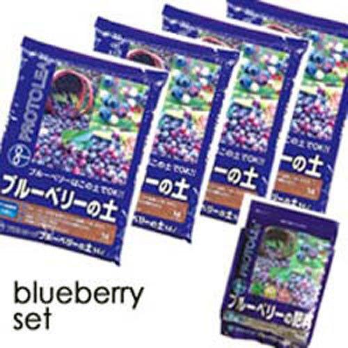 【まとめ買い】プロトリーフ ブルーベリーの土 14L×4袋+有機肥料1袋 14L×4袋、有機肥料×1