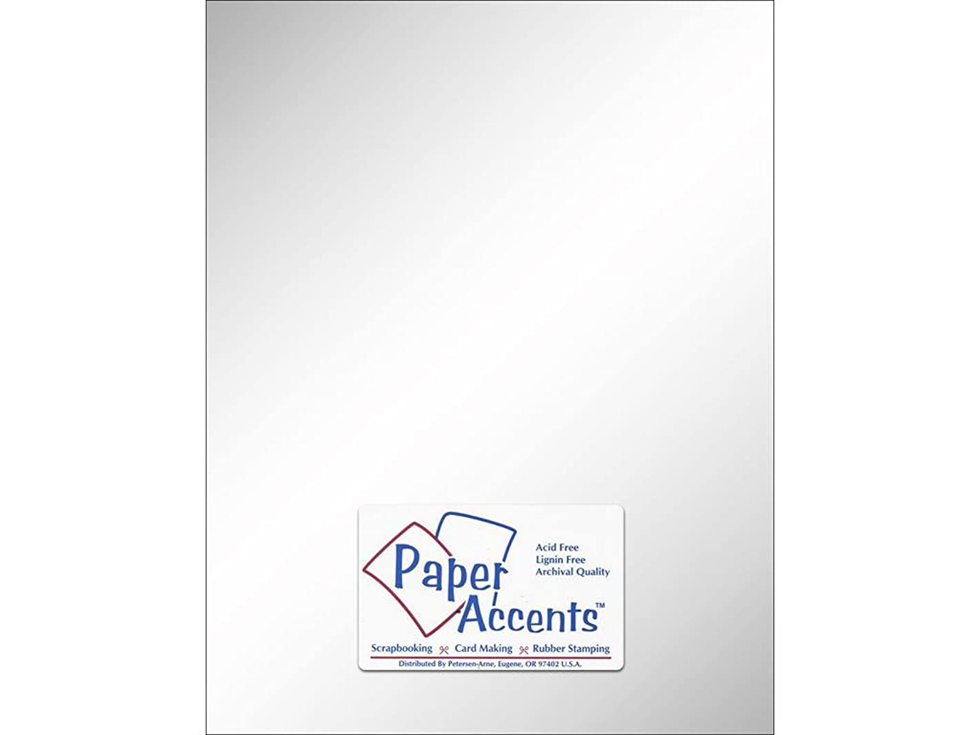 Accent Design Paper Accents Pearl Cdstk 8.5x11 Ice Silver PearlCdstk IceSilver