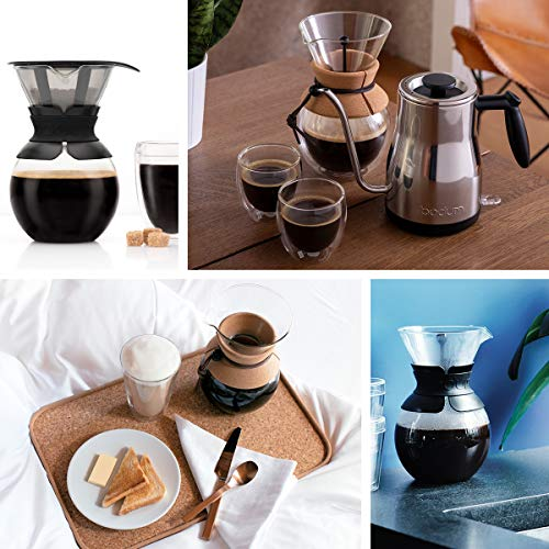 Bodum BODUM ボダム POUR OVER コーヒーメーカー 500ml コルク 金属フィルター 11592-109