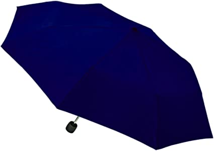 NeverWet 43-inch Canopy Totes Manual Umbrella with Dog Face Handle Navy Blue With Small Pictures of Dogs.