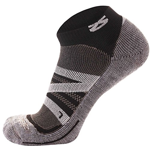 Zensah Wool Running Socks – Soft Cushioned Merino Wool, Moisture Wicking, Anti-Blister – Athletic Socks, Trail Socks,Medium, Cloud