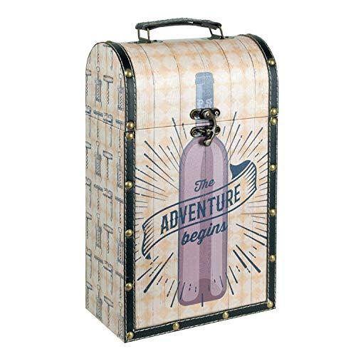 Vidal Regalos Caja Botellero 2 Botellas Vino 36 cm