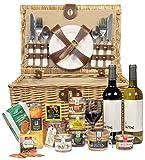 Ducs de Gascogne - Coffret gourmand 'Pique-Nique' - comprend 13 produits dont un foie gras entier, un vin rouge et un vin blanc sec - spécial cadeau (946621)