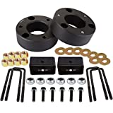 SCITOO 3 inch Front 2 inch Rear Leveling lift kit for Chevrolet 2007-2019 Lift Strut Spacer Compatible for Chevrolet Silverado 1500 2.7L 2019 Front Lift Spacers Rear Lift Blocks