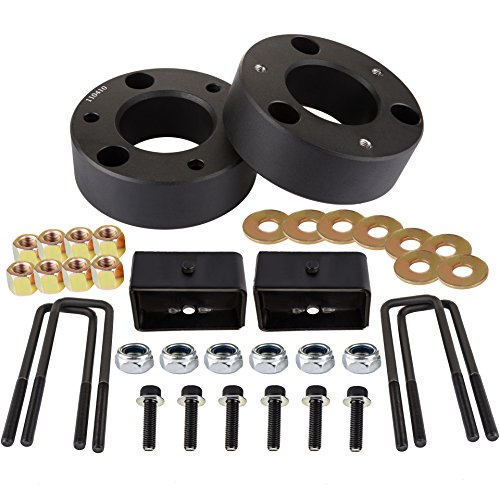 SCITOO 3 inch Front 2 inch Rear Leveling lift kit for Chevrolet 2007-2020 Lift Strut Spacer Compatible for Chevrolet Silverado 1500 2.7L 2019 Front Lift Spacers Rear Lift Blocks
