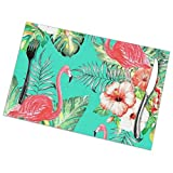 No Band Sunshine Fashion Placemats,Placemats for Table Set,Heat-Resistant Placemats, Washable PVC Table Mats, Kitchen and Reataurant.Set of 6 -Birds and Flowers