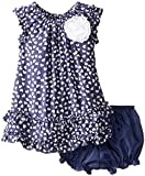 Marmellata Baby-Girls Infant Hearts Swing Dress, Blue, 18 Months