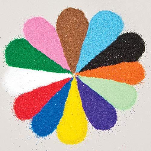 Baker Ross Mini-Beutel mit farbigem Sand (12 Stück )