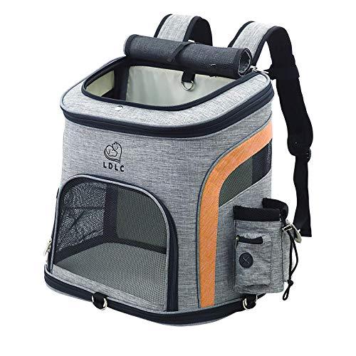 YCXM Mochila de Malla para Gatos al Aire Libre Bolsa de Mascota Transpirable para Perros Bolsas de Transporte portátiles de Moda Transportador de Comodidad para Perros pequeños medianos-Naranja_L