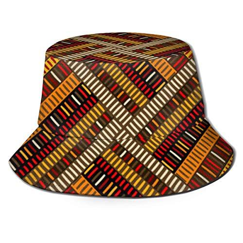 XCNGG Sombrero de Cubo Gorra de Sol de algodón Sombrero de Pescador Geométrico Art Deco Celosía Dibujos Animados para Hombres Mujeres