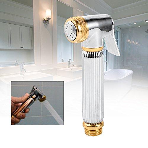 GVC Grifo para bidé de Inodoro de Mano Grifo para bidé Horizontal de latón y Aluminio para baño Bidets portátiles para pañales Pulverizador de Mano
