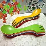 Mesa de mesa de cuchillo de cuchara duradera set de vajilla de mesa de combinación multifuncional Rosa