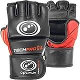OPTIMUM Tech Pro X14Leder Grappling-Handschuhe schwarz schwarz/red M