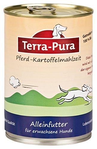 Terra Pura Hundenassfutter Pferde-Kartoffel-Mahlzeit, 12er Pack (12 x 400 g)