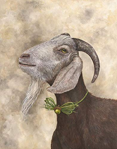 NUWCECK DIY Füllöl Leinwand Farbe von Number Kit Ziegenbock Mutterschaf DIY Ölgemälde Zeichnung Leinwand mit Pinsel Dekorationen Geschenke