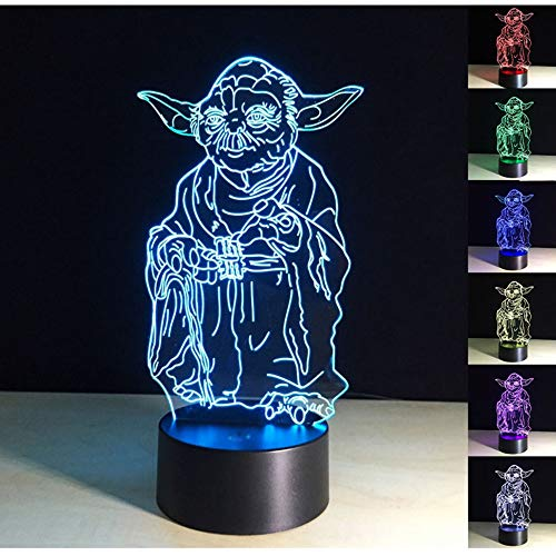 3D Lamp,3D Optical Illusion LED Night Light 7 Colors Changing LED Table Desk Lamp LED Nightlight Home Decoration Gifts Toys for Children Kids