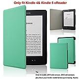 Fskying Kindle 4 Funda, Premium Cuero Ereader Funda para Kindle 4/Kindle 5,