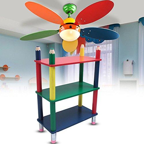 etc-shop Kinder Möbel Set Steh Regal Massiv Holz Decken Ventilator schaltbar Spiel Zimmer Beleuchtung bunt Bleistift Kindermöbel