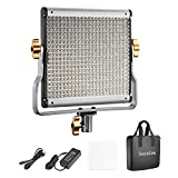 SocialLite Regulable Bi-Color LED Video Luz 480 Leds 3200K-5600K CRI 96+ con Soporte en U Filtro...
