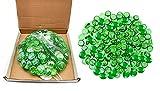 Piedras de cristal para acuario y propósito decorativo, color verde, 500 g
