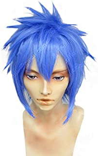 magic acgn Short blue Cosplay Wig Game Hair fashion Party Halloween Wig