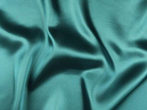 ab 1m: Polyester Satin, türkis, ca. 150cm breit