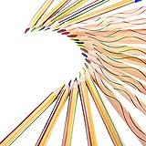 30 Pezzi Matita da Disegno 4 in 1 Set di Matita Colorato Arcobaleno per l'Illustrazione, la Colorazione e lo Schizzo