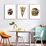 MHFG Nordic Food Farmhouse Decor Pizza Poster und Print Art