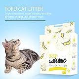 awhao Lettiera per Gatti pianta Tofu Deodorante agglomerante Senza Polvere lettiera per Gatti condensa Tofu 6L Magnificent