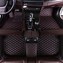Muchkey car Floor Mats fit for Mustang 2015-2019(Three Circular air outlets in The Middle of The Center Console.) Custom fit Luxury Leather All Weather Protection Floor Liners Full car Floor Mats