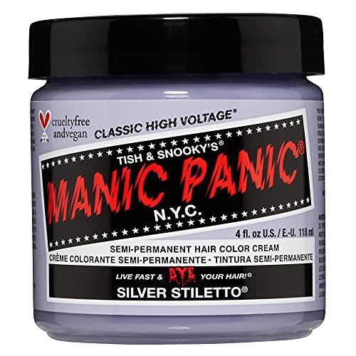 Manic Panic - Silver Stiletto Classic Creme Vegan Cruelty Free Silver Semi Permanent Hair...