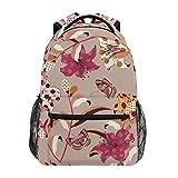 花蝶アートカジュアルバッグ リュック リュック ショルダーバッグ 流行 おしゃれ 人気 ラップトップバッグ こども 通勤 通学