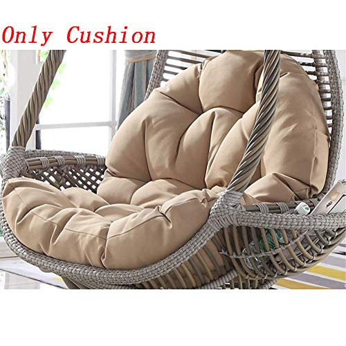 Swing Coussin Fauteuil Chaise de Rotin Swing Nid,Rond Antidérapant Épaissir Coussin de Siège Balançoire Souples Confortable Amovible Lavable,Color6