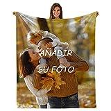 Mantas Personalizadas con Fotos - Manta de Franela Impresa Súper Suave Manta con Foto Personalizada Regalo para Aniversario Cumpleaños Navidad Día de San Valentín (31'x47'(80×120cm))
