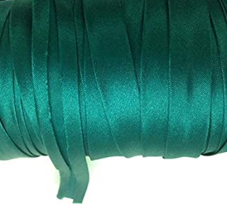 12 Yards 5/8 inch Single Fold Satin Bias Tape 23 Different Colors (Teal Blue)