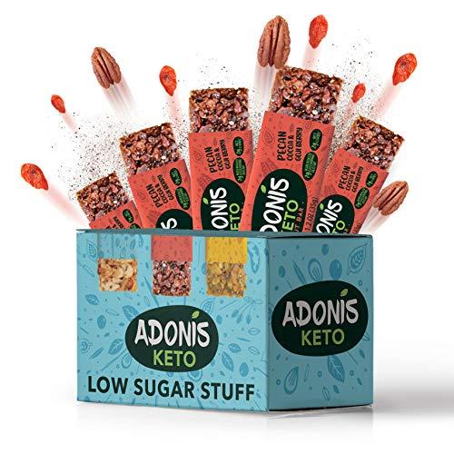 Adonis Low Sugar - Barritas de Pacanas Crujiente Sabor de Cocoa   100% Natural, Baja en Carbohidratos, Sin Gluten, Vegano, Paleo, Keto (5)